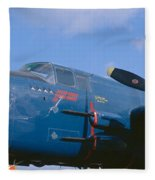 Vintage Fighter Aircraft, Burnet, Texas Fleece Blanket