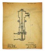Vintage Fire Hydrant Fleece Blanket