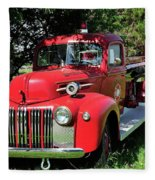 Vintage Fire Truck Fleece Blanket