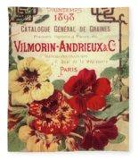 Vintage Flower Seed Cover Paris Rare Fleece Blanket