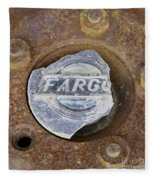 Vintage Fargo Wheel Art Fleece Blanket