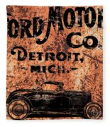Vintage Ford Motor Company Fleece Blanket