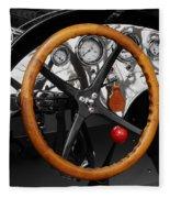 Vintage Ford Racer Dashboard Fleece Blanket