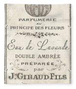 Vintage French Perfume Sign Fleece Blanket