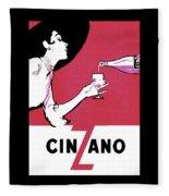 Vintage French Vermouth Aromatic Wine Advertisement Fleece Blanket
