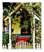 Vintage Garden Arbor Gate Fleece Blanket