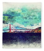 Vintage Golden Gate Fleece Blanket
