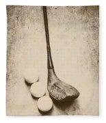 Vintage Golf Artwork Fleece Blanket