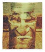 Vintage Halloween Horror Jar Fleece Blanket