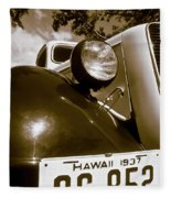 1937 Ford Pickup Truck Maui Hawaii Fleece Blanket