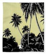 Vintage Hawaii Palms Fleece Blanket