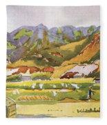 Vintage Hawaiian Art Fleece Blanket