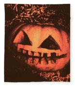 Vintage Horror Pumpkin Head Fleece Blanket