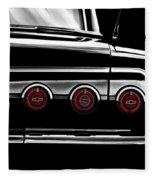 Vintage Impala Black And White Fleece Blanket