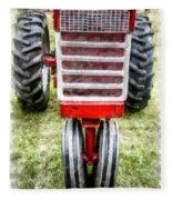 Vintage International Harvester Tractor Fleece Blanket