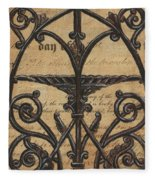 Vintage Iron Scroll Gate 1 Fleece Blanket