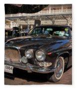 Vintage Jaguar Fleece Blanket