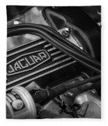 Vintage Jaguar Engine Fleece Blanket