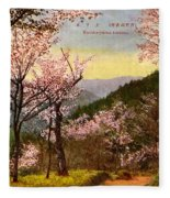 Vintage Japanese Art 14 Fleece Blanket