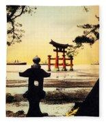 Vintage Japanese Art 23 Fleece Blanket