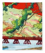 Vintage Japanese Art 6 Fleece Blanket
