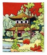 Vintage Japanese Art 7 Fleece Blanket