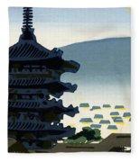 Vintage Japanese Art 9 Fleece Blanket