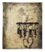 Vintage Keys Fleece Blanket