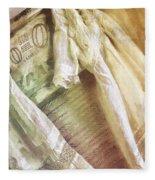 Vintage Laundry Washboard Fleece Blanket