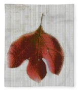 Vintage Leaf Fleece Blanket