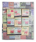 Vintage Matchbooks Fleece Blanket