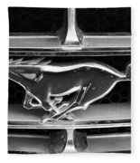 Vintage Mustang Logo Fleece Blanket