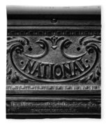 Vintage National Cash Register Fleece Blanket