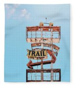 Vintage Neon Sign - The Spanish Trail - Tucson, Arizona Fleece Blanket