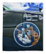 Vintage Nose Art B-25j Mitchell Fleece Blanket