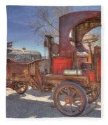 Vintage Packard Truck Fleece Blanket