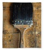 Vintage Paint Brush Fleece Blanket