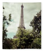 Vintage Paris Landscape Fleece Blanket