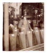 Vintage Paris Men's Fashion Fleece Blanket