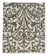 Vintage Parterre Design Fleece Blanket