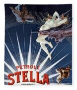 Vintage Petrole Stella Poster Fleece Blanket