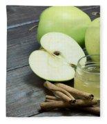 Vintage Photo Of Green Apples Fleece Blanket