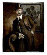 Vintage Photograph Of Vincent Van Gogh - Taken 13 Years After His Death Fleece Blanket