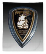 Vintage Plymouth Car Emblem Fleece Blanket