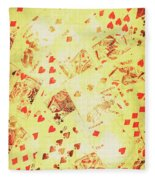 Vintage Poker Background Fleece Blanket