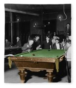 Vintage Pool Hall Fleece Blanket