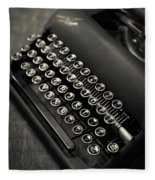Vintage Portable Typewriter Fleece Blanket
