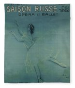 Vintage Poster - Saison Russe Fleece Blanket