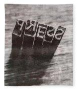 Vintage Press Industry Blocks Fleece Blanket