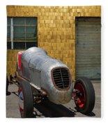 Vintage Racing Car Fleece Blanket
